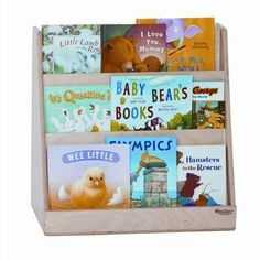 Tot Size Book Display by Wood Designs. $97.99. Stain and chemical resistant. Fully rounded and sanded corners and edges for maximum safety. Easy to clean. Three storage shelves on the other side. Three book display shelves on one side. 32100 Features: -Tot size book display.-3 book display shelves on one side and 3 storage shelves on opposite.-Rugged enough to provide years of storage and display.-All surfaces and back are 100 percent Healthy Kids plywood.-Made ...