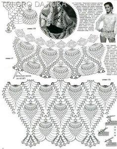 ATELIÊ ARTE DE BORDAR: LU PANZA TRICÔ & CROCHÊ: Blusas de croche com gráfico e PAP