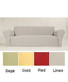 @Overstock - Slipcovers are a fast and easy way to update your home decor  Home accessory features cotton construction for a soft, cozy feel  Mbr in sage or linen  Slipcover is available in  gold, red, sage and brown color optionshttp://www.overstock.com/Home-Garden/Diamond-Stretch-Chair-Slipcover/2387037/product.html?CID=214117 $45.49