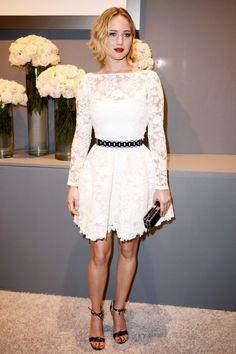 Jennifer Lawrence wearing Oscar de la Renta at Elle Women In Hollywood, October 2014