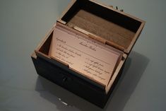 Recipe box from Hannibal.