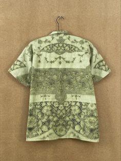Pistachio Lace Shirt - L/XL – BODE New York Fashion Textiles, Pistachio, York, Blouse, Lace, Sleeves, Cotton, Jackets, Shirts
