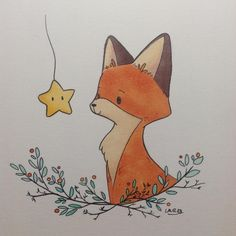 Just a little doodle to try another style for this character. Hum, I don't know yet which one I prefer. I also tried my new kuretake pen. I think they are amazing 😀. #instaart #art #illustration #fox #redfox #animal #character #copic #kuretake #blackink #story #children Fox Illustration, Christmas Illustration, Little Doodles, Fox Art, Nursery Art, Fox Nursery, Animal Nursery, Nursery Decor, Baby Room Art
