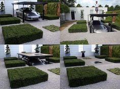 Porsche Garden - This innovative design aims to tackle the growing loss of front gardens to car park space in urban areas. Click for awesomeness!
