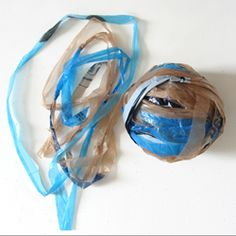 DIY - A tutorial for making yarn out of plastic bags. Have to try this.