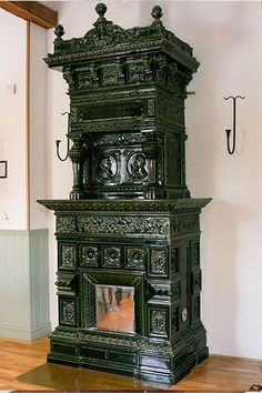 Antique Swedish tiled stoves -