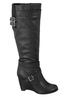 Maggie Buckle Wedge Boot
