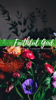 Therefore know that the Lord your God, He is God, the faithful God who keeps covenant and mercy for a thousand generations with those who love Him and keep His commandments bvotd faithfulgodforever 📖💚🙌🏻 Bible Verse Wallpaper, Bible Verse Art, Bible Verses Quotes, Bible Scriptures, Faith Quotes, Wallpaper Quotes, Psalms, Biblical Verses, Texts