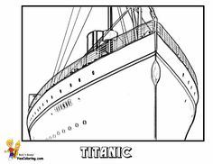 Free Titanic Coloring Pages With Titanic Coloring Page