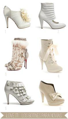Shopping de botines y Peep toe abotinados para novias #zapatos megustamegustannn
