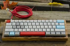 Computer keyboard re-housed in Olive wood - I want to try this with a different wood, cherry or walnut, on my Kinesis Freestyle keyboard