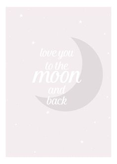 Moon and back pink, poster