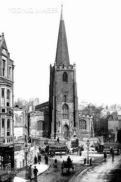 Nottingham, St Peter's Church from Francis Frith St Peter's Church, Nottingham City, Victorian Life, History Photos, Derbyshire, England Uk, Southampton, Old Photos, Britain