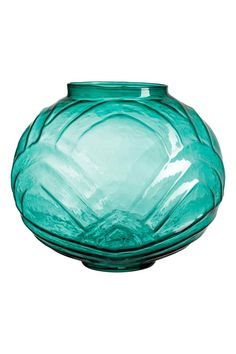 Large textured glass vase - Petrol green - Home All Decor Interior Design, Interior Decorating, Grand Vase En Verre, H&m Sale, Colored Glass Bottles, Eccentric Style, Modern Art Deco, Glass Texture, Teal Green