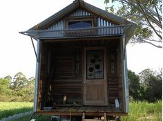 Tin House Tiny On Wheels Small Houses Treehouses Spaces Future Cabins Porch Little