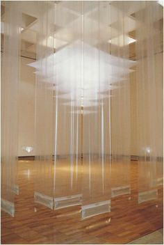the layering affect and transparency pf the installation is Interesting Light Art, Instalation Art, Light Installation, Installation Architecture, Exhibition Space, Stage Design, Sculpture Art, Glass Art, Contemporary Art