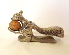 Vintage nutcrackers in the shape of a squirrel by MaisonMaudie, $22.00