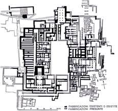 Planimetria generale del palazzo di Cnosso il palazzo è suddiviso su due piani
