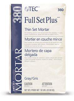 Full Set Plus® Premium Unmodified Mortar | Tecspecialty.com