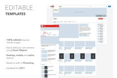 Designed to make it easy to visualize your YouTube channel, profile images, company pages, marketing campaigns and more - before they go live. Giving you more time to make what you do best look even better!