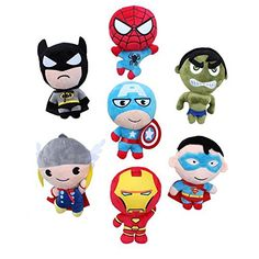 The Avengers Super Hero Spider-Man Thor Wolverine Iron Man Captain America Batman Plush Dolls 20CM 7 @ niftywarehouse.com