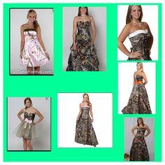 Camo Prom Dress Patterns