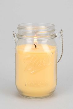 Northern Lights Hang Mason Jar Candle---We can use tiny mason jars for the DIY candles!