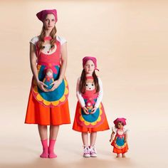 Halloween Matching mommy daughter costume, Set of girl costume adult costume, Halloween folklore costume, Halloween, women costume Inspired by traditional matrushka Russian dolls this costume is colorful with a nostalgic folklore feel. Doll Costume, Girl Costumes, Adult Costumes, Costumes For Women, Children Costumes, Costume Makeup, Costume Ideas, 1960s Costumes, Mouse Costume