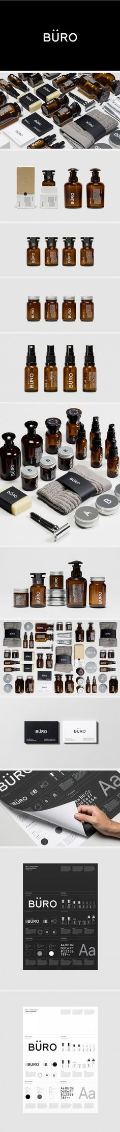 (2) Büro System #identity #packaging #branding PD | design | brand identity & logos | Pinterest / Branding / Packaging / Ideas / Inspiration / Minimalist / Men / Beauty / cosmetics / Skin Care / Soap / Bottle / Simple / Clean / Black and White / Modern / Elegant / Minimal