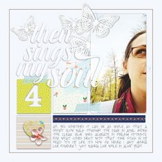 """april walk"" digital scrapbook layout by paddy wolf- made with marisa lerin ""spring fever"" kit available at pixelscrapper.com"