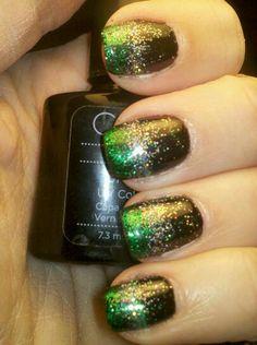My St. Patty's Day nails ~ Angela