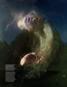 """The Terrier and Lobster: """"Far Far From Land"""": Kristen McMenamy as the Little Mermaid by Tim Walker for W Magazine December/January W Magazine, Magazine Editorial, Editorial Fashion, Creative Photography, Fashion Photography, Editorial Photography, Tim Walker Photography, Kunst Online, Richard Avedon"""