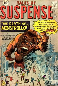 """Time for the Ape of the Day! Fun fact: The autopsy revealed the mundane truth that Monstrollo succumbed to emphysema. He wasn't really """"all-powerful"""" after all. He just had a swelled head. Creepy Comics, Horror Comics, Vintage Comic Books, Vintage Comics, Old Comics, Marvel Comics, Captain America, Iron Man, Pulp Fiction Comics"""