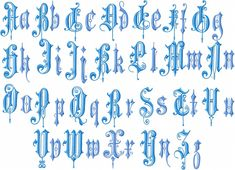 Vintage English Font - 2.5 Inch Upper and Lower Case Machine Embroidery Font