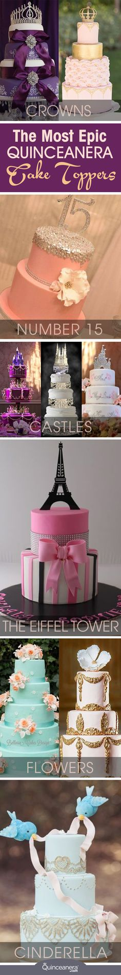 The most appetizing and best looking cakes have crowns, castles, The Eiffel Tower, you name it! To personalize it even further, you can include your initials so everyone knows you're the star of the party. - See more at: http://www.quinceanera.com/food/epic-quinceanera-cake-toppers/?utm_source=pinterest&utm_medium=social&utm_campaign=food-epic-quinceanera-cake-toppers#sthash.Xwvp6BeC.dpuf