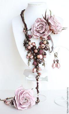 Купить комплект ПЫЛЬНАЯ РОЗА (вариация) - розовый, пыльная роза, грязно-розовый, роза