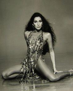 Cher wearing Bob Mackie. 70s