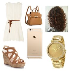 A fashion look from April 2017 featuring white colour dress, caged heel sandals and strap backpack. Browse and shop related looks. Zac Posen, Jennifer Lopez, Country Style, Fashion Looks, Michael Kors, Heels, Polyvore, Shopping, Heel