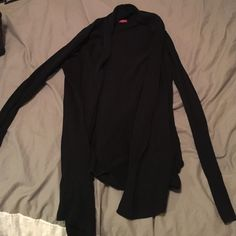 Black open front cardigan Plain black open front cardigan sweater. Never worn. Merona Sweaters Cardigans