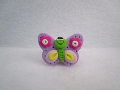 Mini Butterfly HAIR BOW CENTER - Lavender - Polymer Clay-Ready to Ship