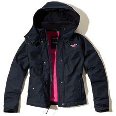 Girls Hollister Sherpa Lined Puffer Jacket | Girls Jackets & Coats |... via Polyvore