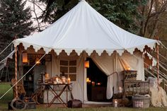 When Gina Galvin of Peacock Park Design longs for an adventure she packs all her hopes and dreams and pitches a tent under the twinkling light of stars. - Tents - Ideas of Tents Outdoor Spaces, Outdoor Living, Outdoor Decor, Tent Living, Victoria Magazine, Camping Glamping, Luxury Camping, Luxury Tents, Camping Outdoors