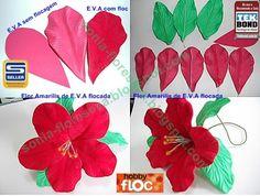 Como se hacen las flores de foami - Imagui