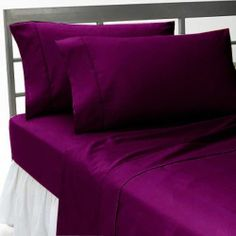 Luxurious 4PC Queen Sheet Set Violet Solid 1000TC Pure 100% Egyptian Cotton, Must have :P