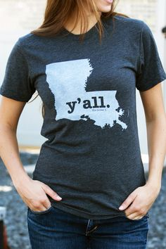 They evensay it deep down in the bayou. This comfy and stylishLouisianaY'all Shirtwill show everyone your undying Louisiana state pride.