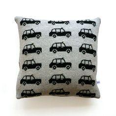 40cm Lambswool London Black Cab Cushion