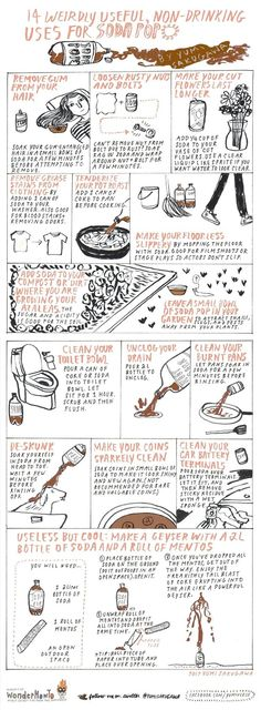 14 Weirdly Useful (And Non-Drinkable) Uses for Soda Pop « The Secret Yumiverse :: WonderHowTo Household Cleaning Tips, Cleaning Recipes, House Cleaning Tips, Diy Cleaning Products, Cleaning Hacks, Amazing Life Hacks, Useful Life Hacks, Amazing Ideas, Hacking Websites