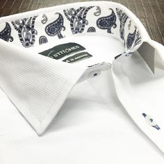 The best way to start your Monday a crisp white shirt with Paisley detailing!  Have a great week Gentlemen.  #menswear #mensstyle #mensfashion #style #fashion #trend #trendy #paisley #classic #classy #classymen #dapper #dappermen #ootd #lookoftheday #monday #inspiration #bespoke #custom #tailormade #luxury #instagood #instalike #igers #instapic