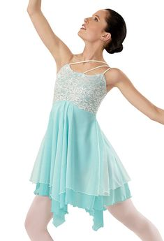 Lace Overlay Ballet Dress; Weissman Costumes. Also comes in a pretty light purple and light pink all the colors are adorable and stunning in the costume.