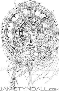 Lady Death: Heartbreaker 1 Steam Queen - ink by jamietyndall on DeviantArt